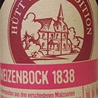 Hütt Craft Edition Weizenbock 1838