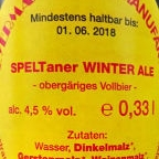 Weyermann SPELTaner Winter Ale
